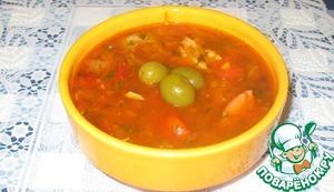 Рецепт Солянка мясная с квашеной капустой из «колбасных обрезков»