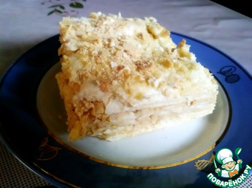 """Торт """"Наполеон"""" для любимой мамы"""