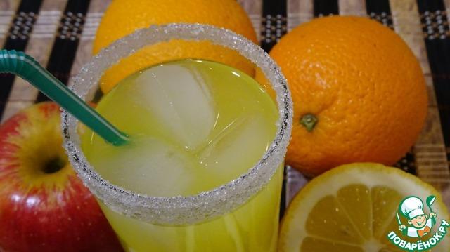Как сделать сок из двух апельсинов