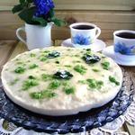 Торт постный мятно-клубничный