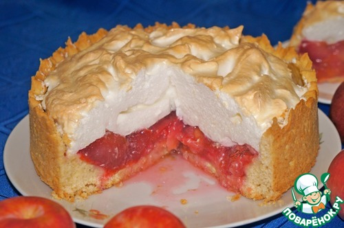 Сладкий пирог с безе рецепт