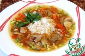 рецепт супа с грибами шампиньонами постный