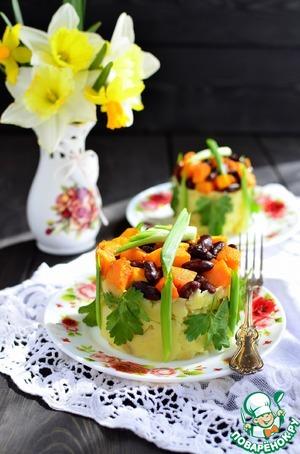 Салат с красной фасолью и помидорами - рецепт с фото на ...