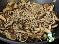 Соба с грибами и кунжутом ингредиенты