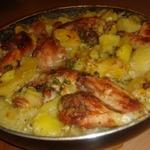 картошка в духовке с курицей в молоке