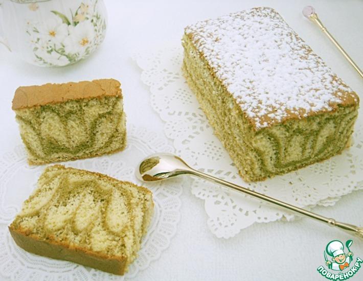 Рецепт: Мраморный бисквит