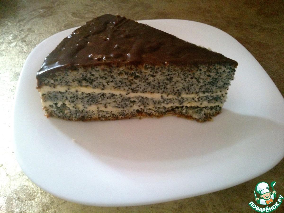 Маковый торт рецепт с пошаговым фото