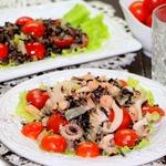 Дикий рис с овощами и морепродуктами
