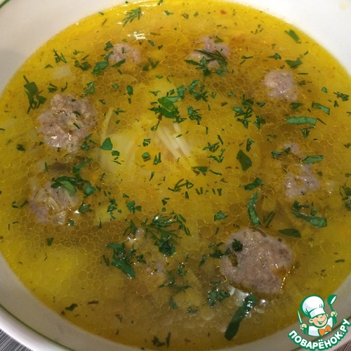 Суп из фрикаделек с вермишелью рецепт пошагово 69