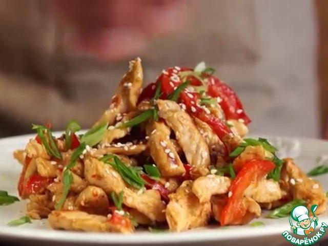 курица с кунжутом в соусе териЯки рецепт