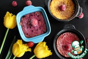 Рецепт: Творожное суфле с фруктами и ягодами