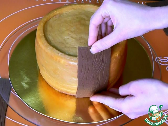 рецепт торта бочонок с икрой с фото