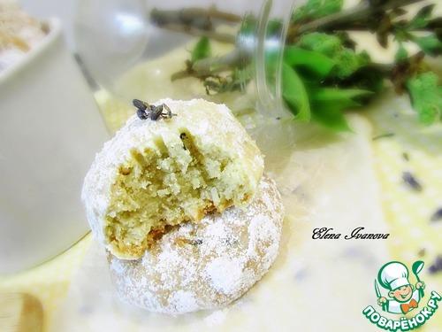 Кокосово-лавандовое печенье