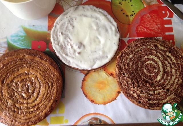 Торт зебра рецепт с пошагово со сметанным кремом