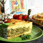 Пирог с капустой, шпинатом и тунцом