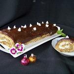 Миндально-шоколадное пирожное