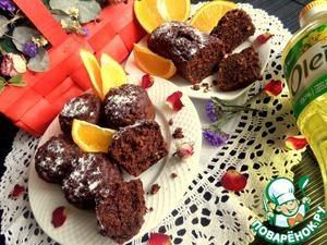 Шоколадные маффины с апельсином