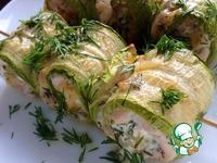 Кабачковые рулеты с курицей и сыром ингредиенты