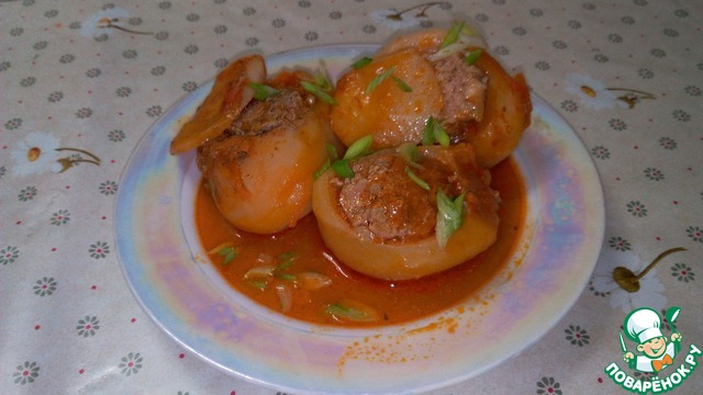 Рецепт картофель начиненный фаршем