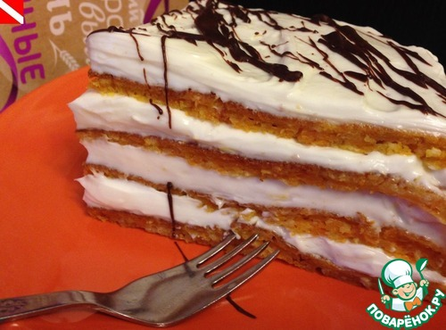 Торт морковный на сковороде