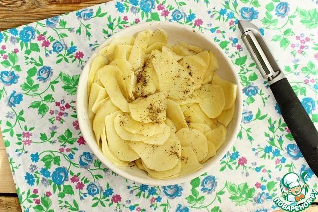 плачинда с картошкой рецепт с фото