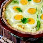 Киш с капустой и яйцами