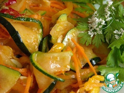 Салат из кабачков и морковки по-корейски на зиму