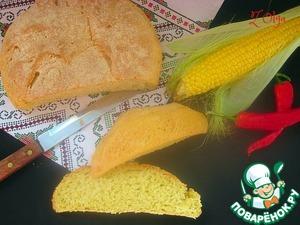 Рецепт: Кукурузный хлеб на опаре