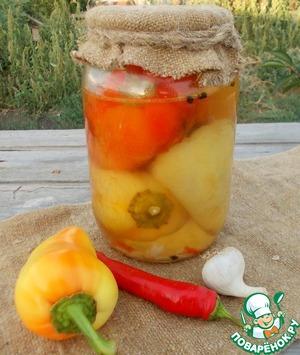 Жареный перец в маринаде