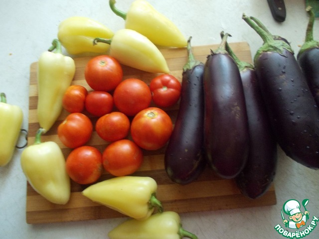 Баклажаны с помидорами слоями рецепт