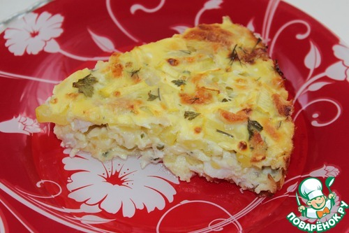 Заливной пирог с кабачком рецепт с