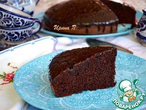 Рецепт: Воздушный шоколадный пирог на красном вине