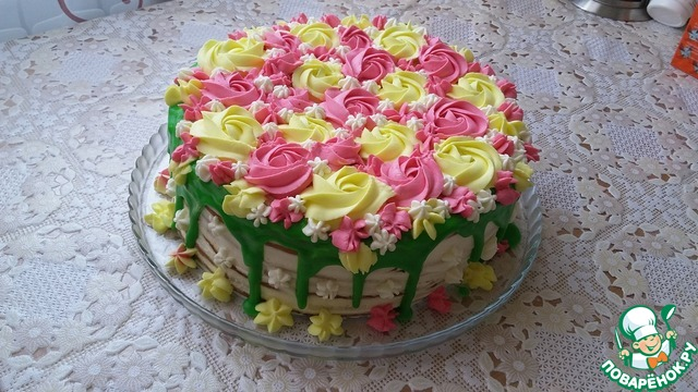 Цветная глазурь для торта рецепт пошагово 167