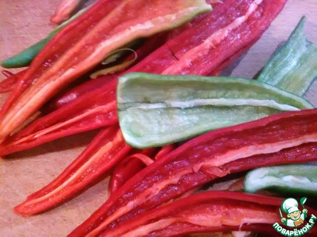 Салат дракон красный перец рецепт фото