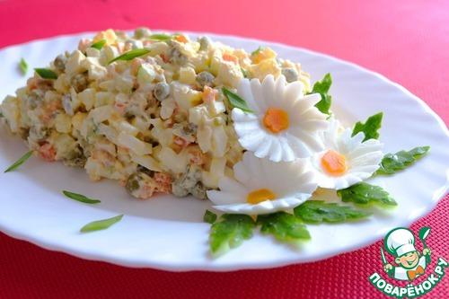 Фото рецепт салат столичный с курицей