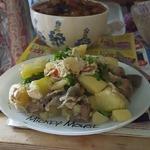 Жаркое с кабачками и грибами