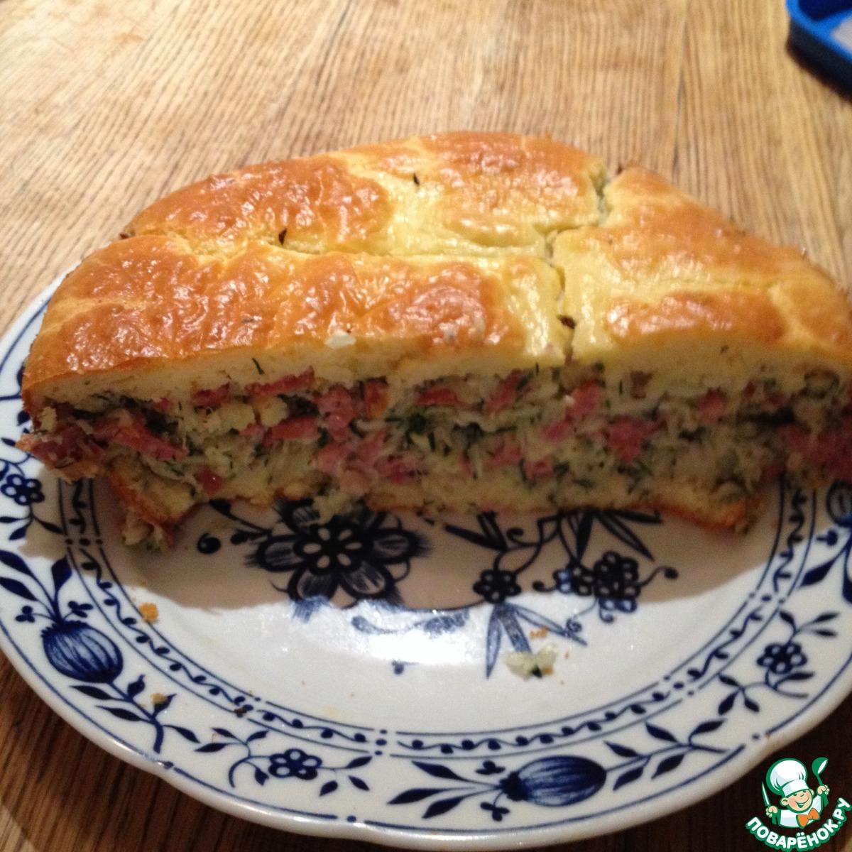 Пошаговый фото рецепт пирога с капусты
