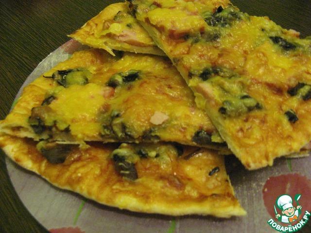 пицца рецепт тесто как на оладьи