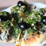 Паштет из куриной печени с маслинами