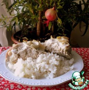 Рецепт: Курица с луком и горчицей