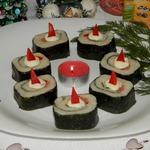 Новогодняя закуска «Неправильные суши»