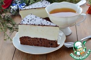 Торт-суфле на брауни