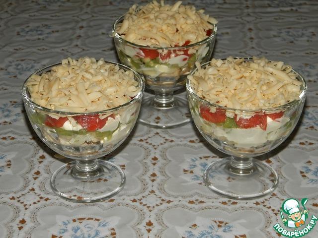 Порционные салаты на поваренке