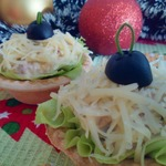 Салат с тунцом в тарталетках
