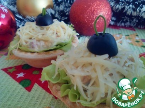 Рецепт: Салат с тунцом в тарталетках
