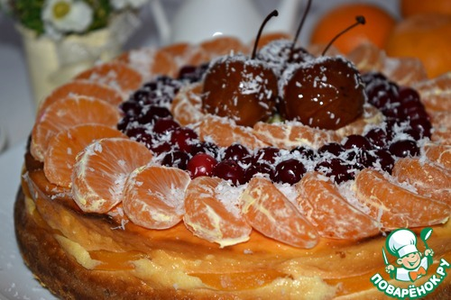 Творожник с фруктами и кокосом