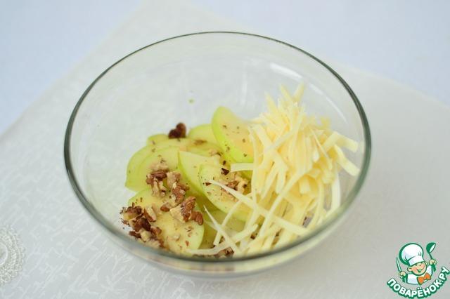 салат рецепт сыр яблоки орехи