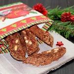 Шоколадные бискотти с вяленой вишней Подарочные