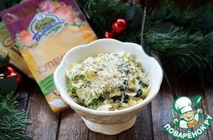 Рецепт: Сырный салат с сухарной крошкой