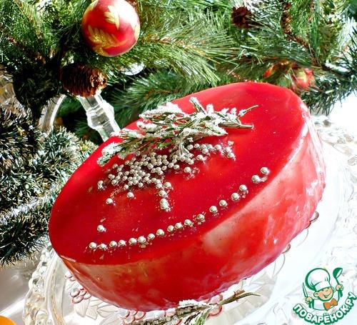 """Торт """"Огонь рождественской свечи"""""""